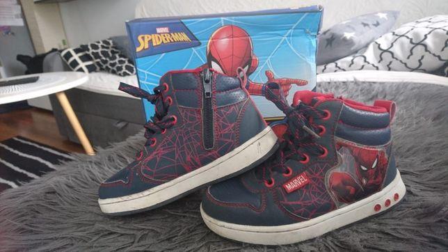 Buty Spider-Man,stan bardzo dobry, roz.30, świecąca podeszwa