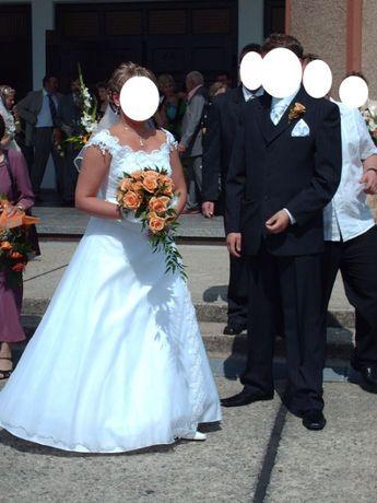 Suknia Ślubna unikatwa trzy częściowa gorset