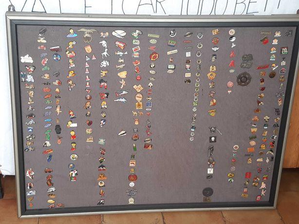 Quadro com coleção de Pins