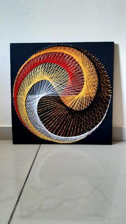"""Картина в техніці String art """"Дракон"""""""