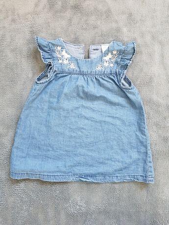 Sukienka dżinsowa hm rozm 68 jak nowa
