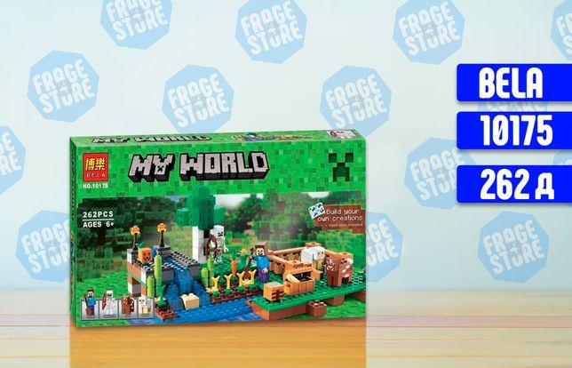 """Конструктор Bela Minecraft 10175 """"Ферма"""", 262 детали, лего, майнкрафт"""