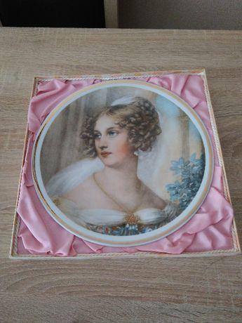 Talerz ozdobny Potocka porcelana Wawel lata 70