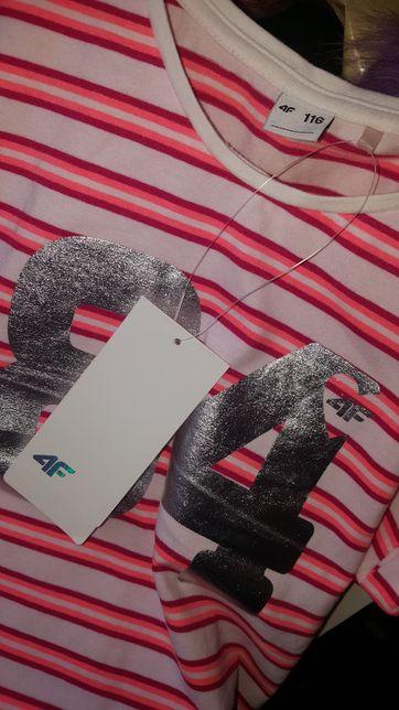 Koszulka 4F t-shirt nowy 116
