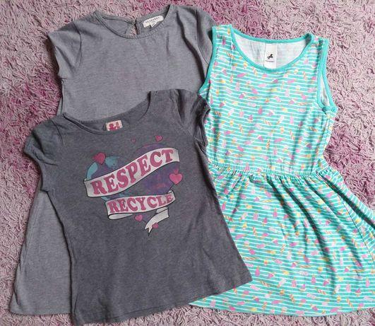 Dziewczynka 134cm zestaw sukienki i koszulka h&m Reserved c&a