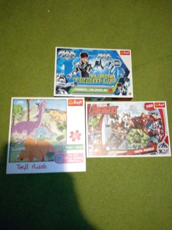 Puzzle dla dzieci max Steel avengers dinozaury