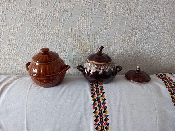 Горшочки посуда из глины