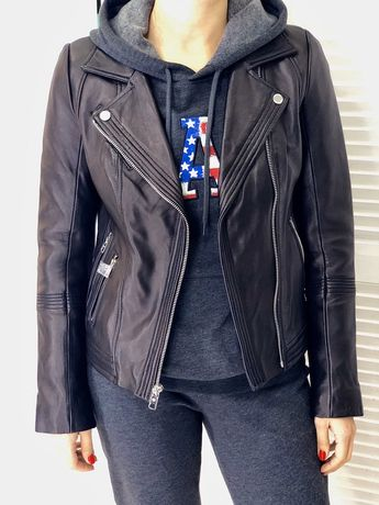 Кожаная куртка - косуха Michael Kors. Оригинал, XS - S