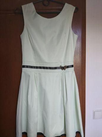 Sukienka miętowa z paskiem rozm 38