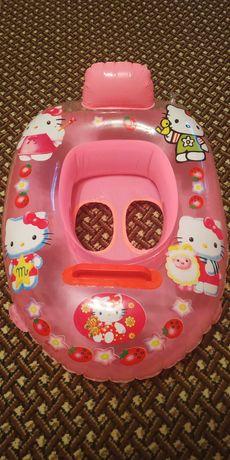 Круг надувной детский лодка