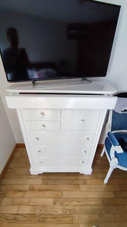 2 cómodas lacado branco
