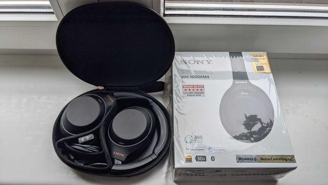 Sony WH-1000XM4 Czarne ANC Słuchawki bezprzewodowe Na Gwarancji