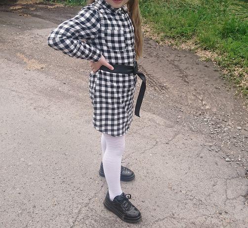 Стильная туника - рубашка Primark на девочку 6 лет