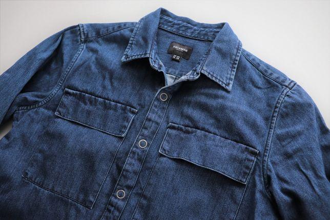 Męska koszula jeansowa PULL&BEAR r. M idealna jak nowa bluza katana
