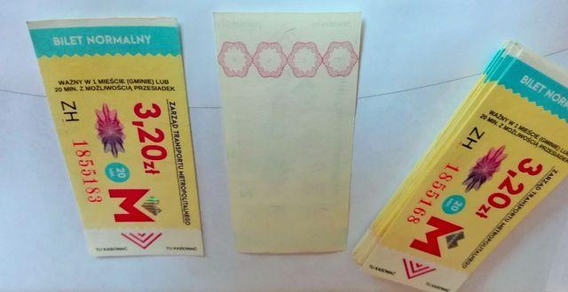 Bilety ZTM KZKGOP autobusowe i tramwajowe na 1 miasto