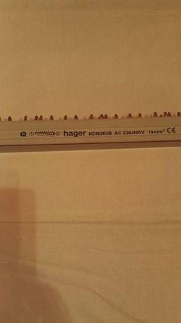 Szyna grzebieniowa widełkowa hager pozioma 3P 10mm² 57M
