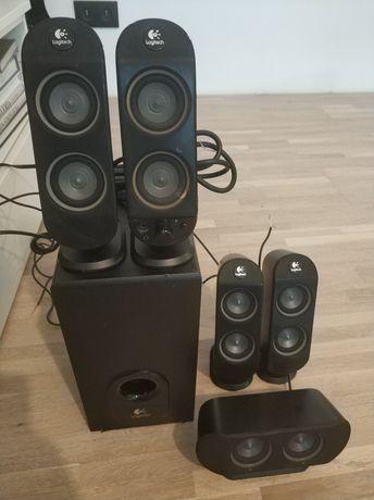 Wzmacniacz Zestaw głośników 5.1 Logitech x- 530 70W Dekoder dolby DTS