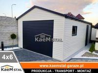 Garaż blaszany 4x6 biały Garaże blaszane drewnopodobne montaż GRATIS