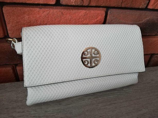 Torebka biała kopertówka elegancka