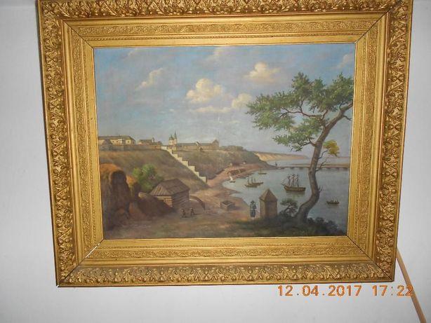 Картина маслом Николаев конца 18 века