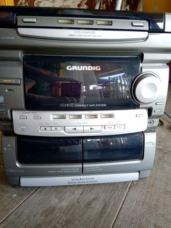 Wieża Grundig radio magnetofon cd