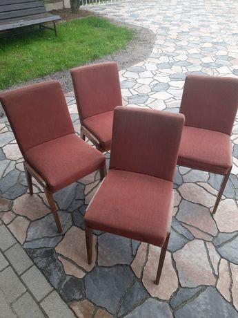 Krzesło, fotel, stary stołek PRL 4 szt