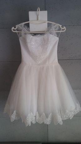 Krótka suknia ślubna rozmiar 36