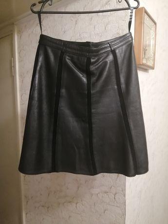 Кожаная юбка натуральная кожа