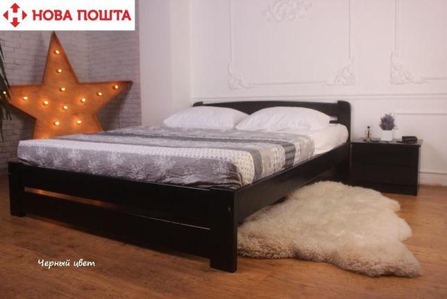 Красивая Кровать ДВУХспальная Деревянная 160х200 ЭКО