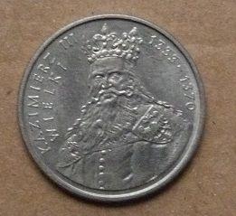 Moneta 100 zł - Kazimierz Wielki - 1987 r