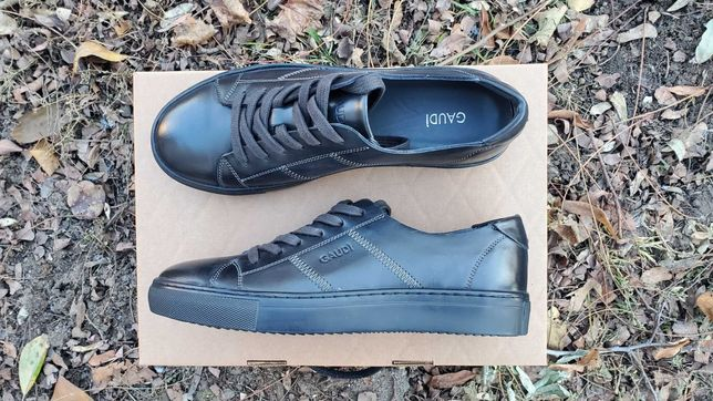 Мужские кожаные туфли / кроссовки Gaudi, цвет черный, осень-весна