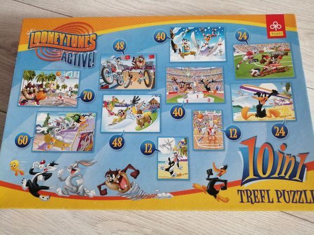 Puzzle Królik Bugs, Kaczor Daffy i inni - 10 układanek