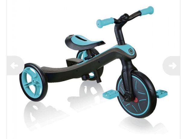 Велосипед Globber Explorer Trike Бирюзовый  2 в 1. Беговел