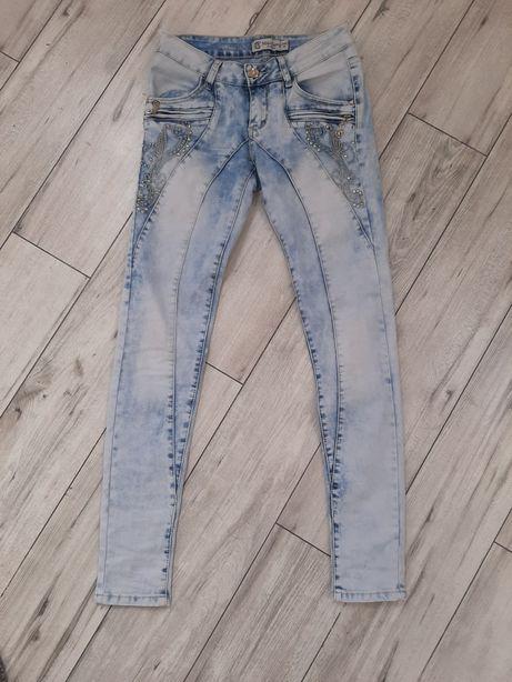 Spodnie damskie jeansy r xs s