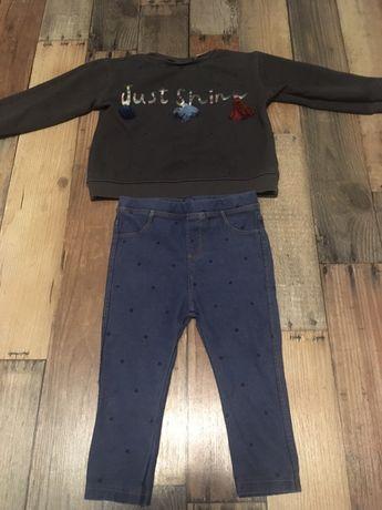 Zara bluza i leginsy 86 cm