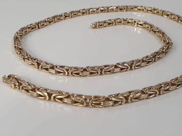 Sprzedam złoty męski łańcuszek splot królewski próby 585 waga 90,5 g