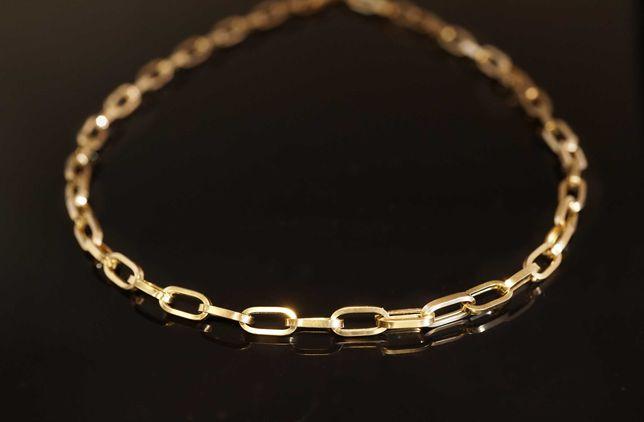 Złoto 585-złota łańcuszek damski splot Ankier