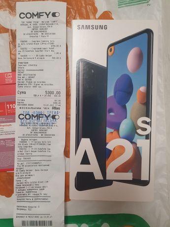 Телефон Samsung galaxy A21s black 3/32 gb. Официал Comfy Новый Бронь