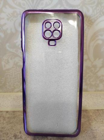 Силиконовый чехол для xiaomi note 9 pro фиолетовый