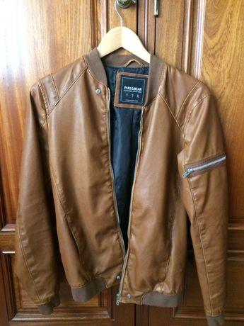 casaco pull bear castanho