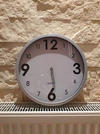 Zegar ścienny kuchnia srebro