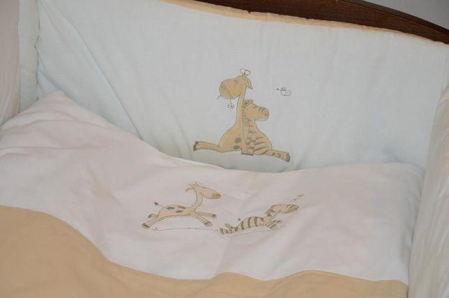 Pościel 3 elem. SPANCO żyrafki gruby otulak/ochraniacz plus pościel