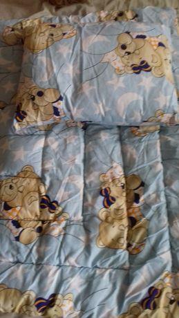 детский комплект - одеяло и подушка