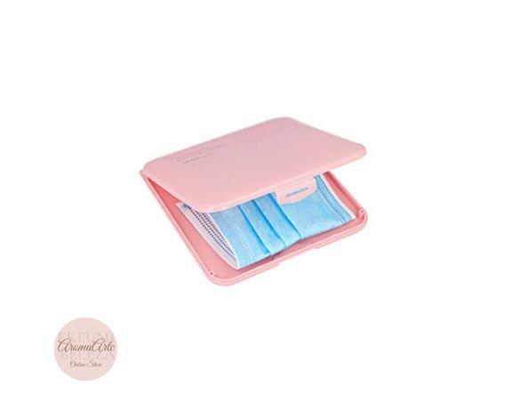 Inca Caixa Porta-Máscaras - cor de rosa