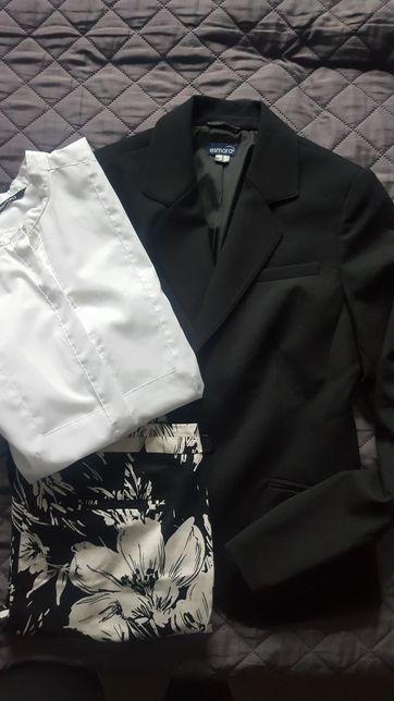 Zestaw marynarka, spodnie I bluzka biała. 36/38