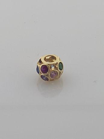 Złoty element charms na bransoletkę Pandora 14k.Nowy (161)