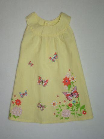 H&M lekka zwiewna sukienka Butterfly 86cm/12-18m
