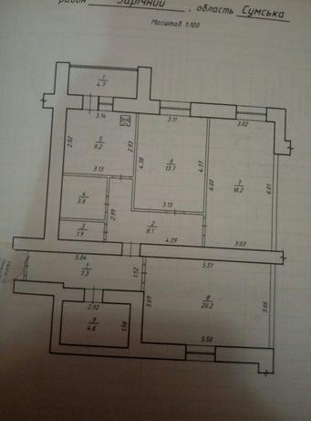 3х комнатная квартира с а/о .