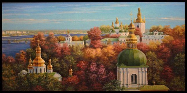 """Картины маслом на холсте """"Соборы Киева"""""""