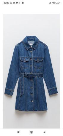 Sukienka jeansowa nowa,zara L